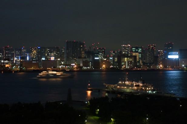 Foto de Tokyo bay à noite.
