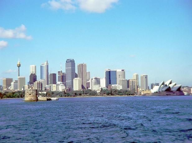 Foto da costa de Sidney.