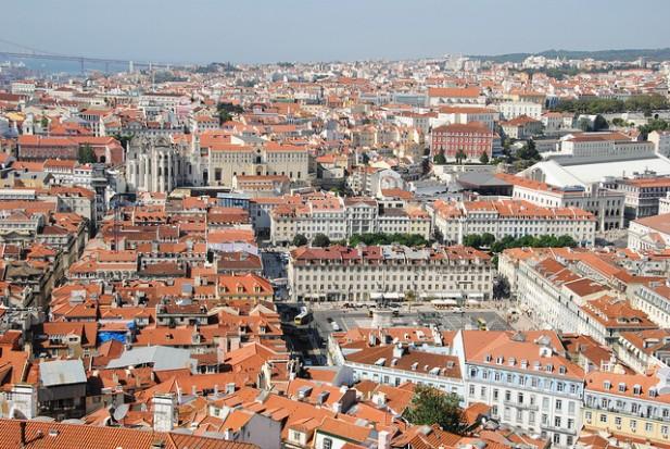 Foto de Lisboa vista do Castelo.
