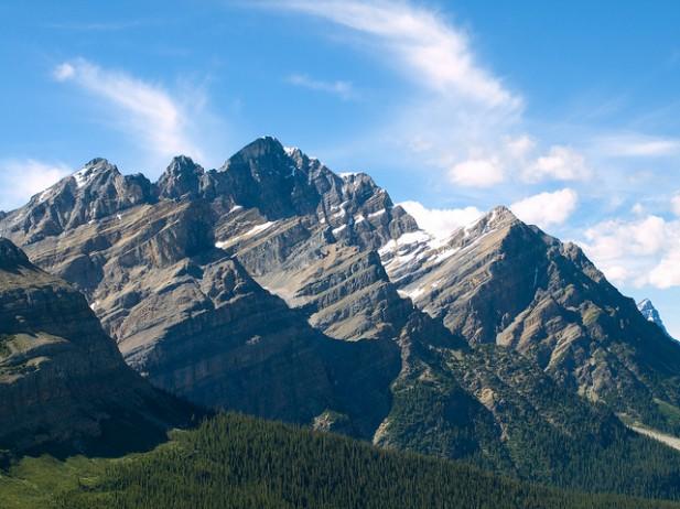 Foto do Beside Peyto Lake, Banff National Park nas Canadian Rockies.