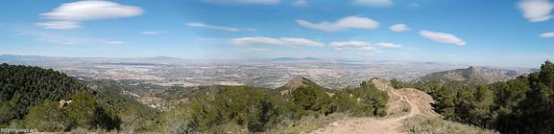 Foto de Murcia vista do monte.
