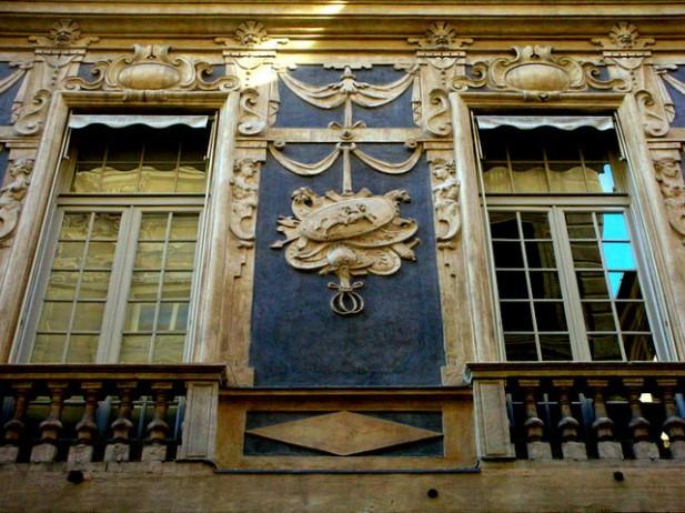 Foto do Palazzo Lomellino em Strada Nuova, Génova.