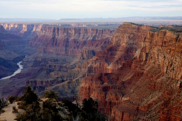 Foto panorâmica do Grand Canyon.