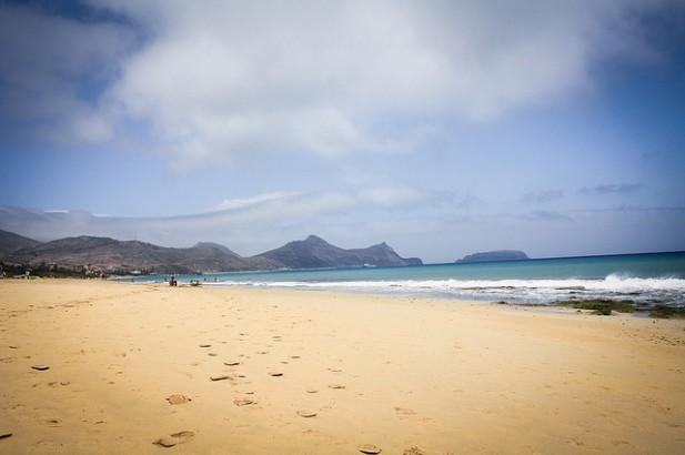 Foto de praia do Porto Santo.