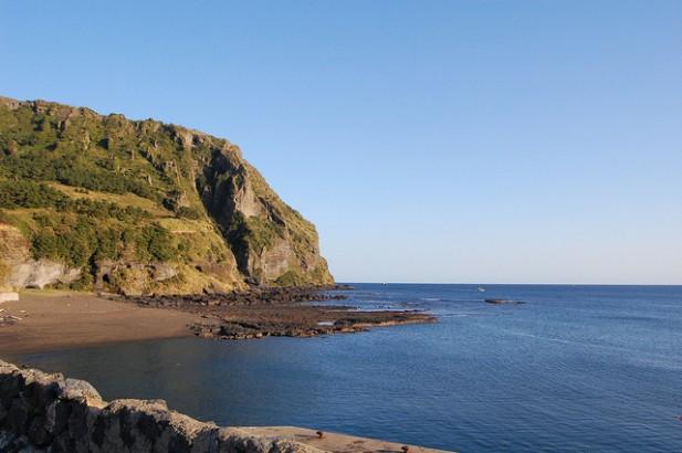 Foto de praia e mar em Jeju Island na Coreia do Sul.
