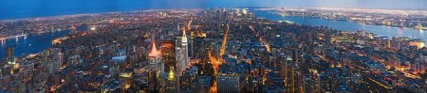 Foto das vistas a partir do Empire State Building.
