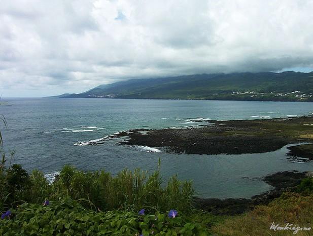 Foto da Baía da Lajes do Pico, Ilha do Pico, Açores.