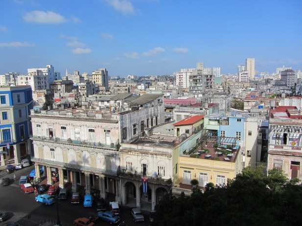 Foto de edifícios do centro de Havana.