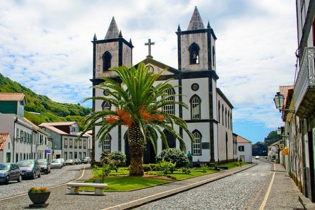 Foto da Igreja Lajes do Pico, Ilha do Pico, Açores.