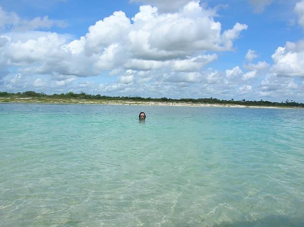 Foto da Lagoa Azul em Jericoacoara, Brasil.