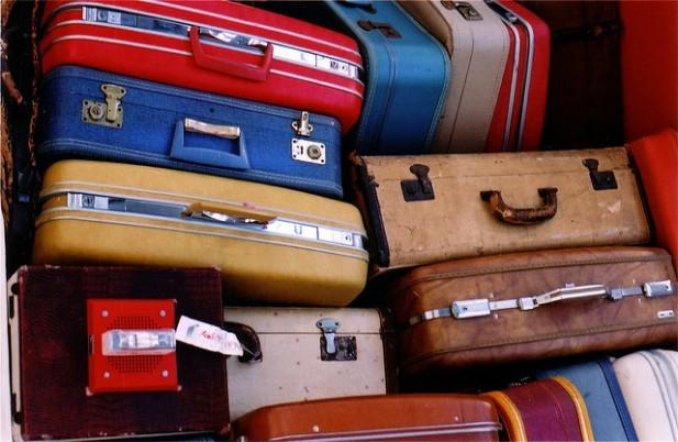 Foto de malas de bagagem.