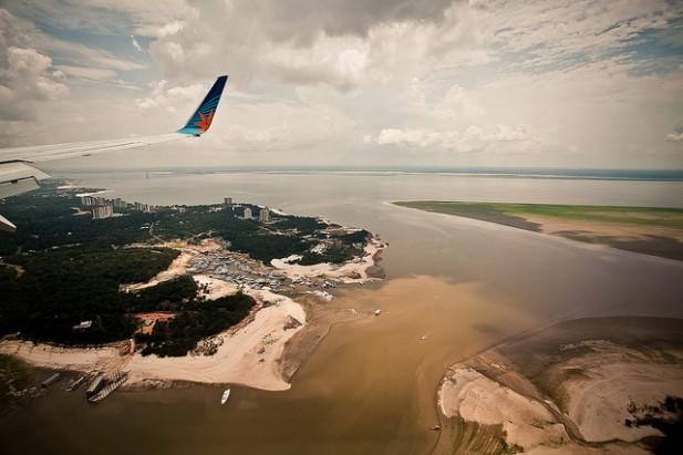 Foto aérea de Manaus, Amazónia, Brasil.