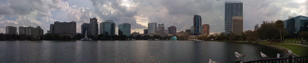 Foto panorâmica da cidade de Orlando.