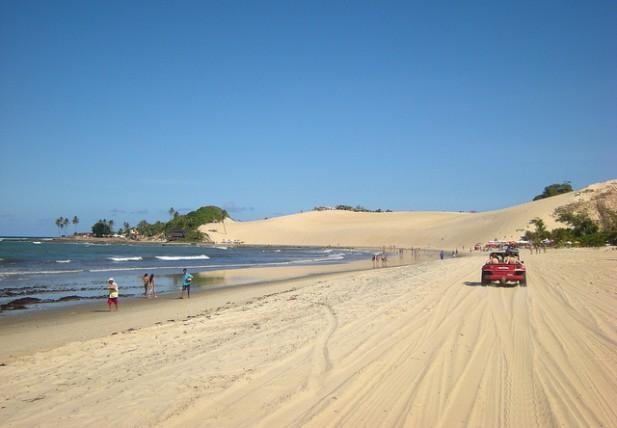 Foto da Praia de Genipabu em Natal no Brasil.