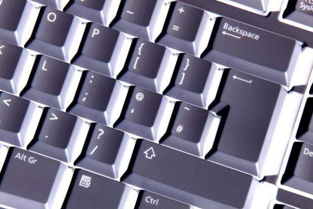 Foto de teclado de computador.