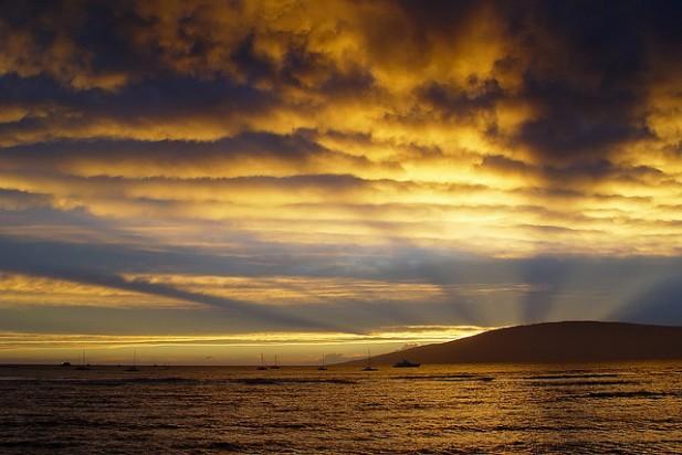 Foto de pôr-do-sol.