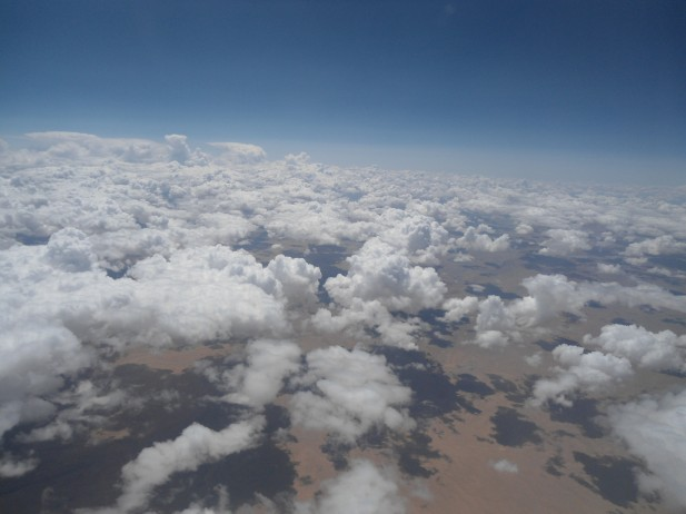 Foto de nuvens na atmosfera.