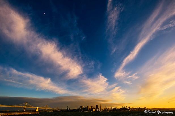 Foto de cidade e ponte de São Francisco, Estados Unidos.