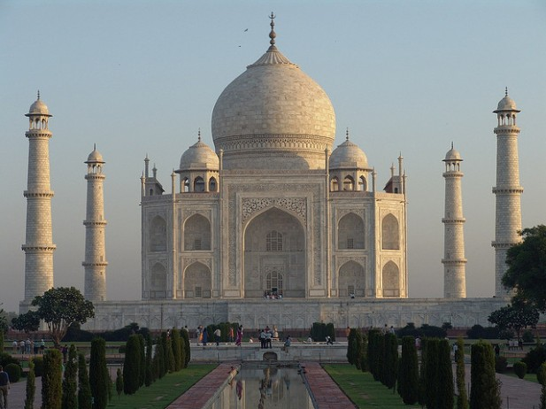 Foto do Taj Mahal.