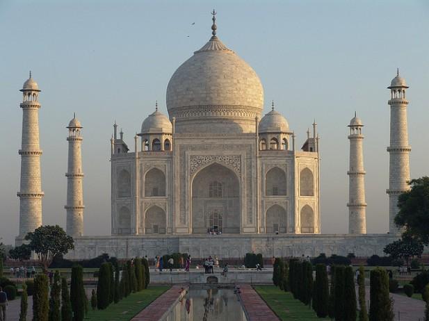 Foto do Taj Mahal.
