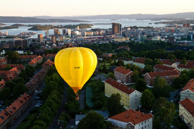 City of Oslo - ballon view