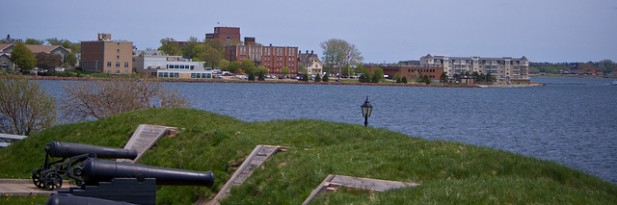 View of Charlottetown from Fort Edward