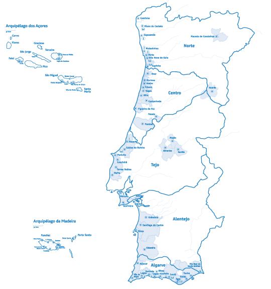 Praias e Portos de Recreio e Marinas com Bandeira Azul 2014