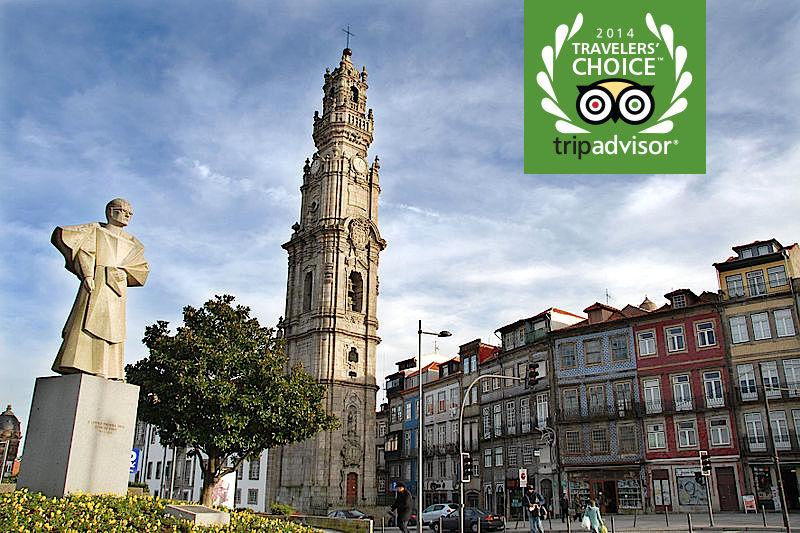 A Torre dos Clerigos, no Porto foi distinguida com o certificado de excelência 2014 do Trip Advisor