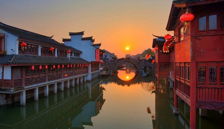 A Cidade Antiga de Qibao, junto a Shanghai