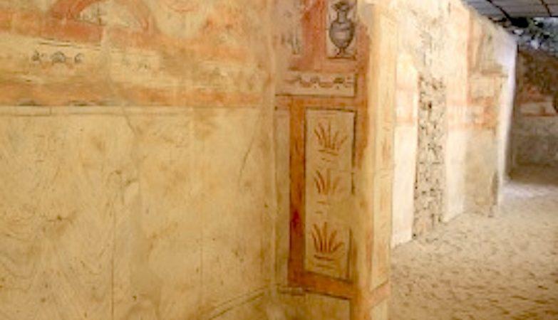Pinturas romanas da Basílica Paleocristã de Troia
