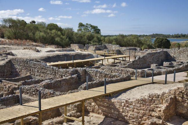As ruínas romanas de Tróia