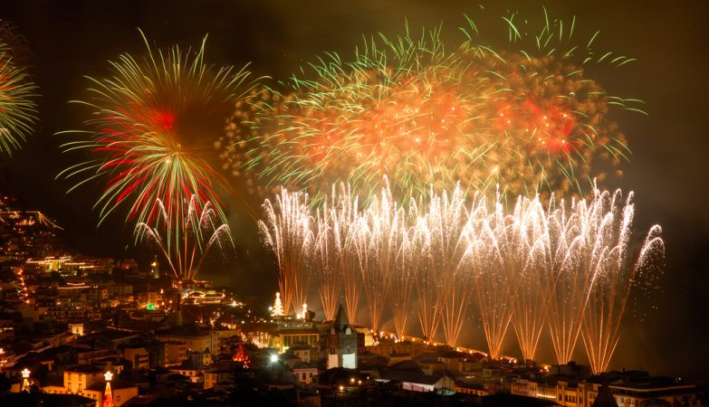 Fogo de artifício da passagem de ano no Funchal