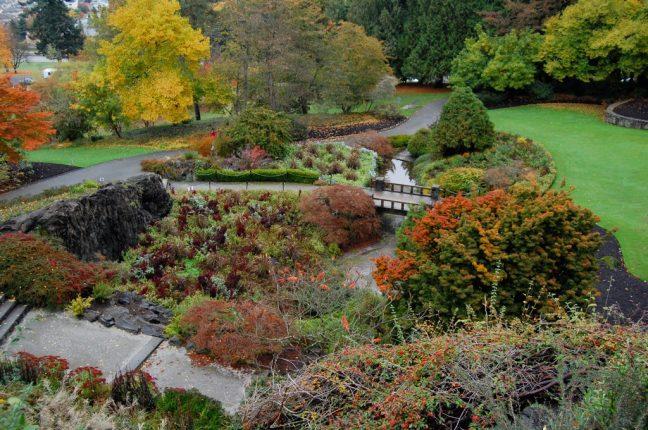 Deixe a tensão desaparecer com esta vista no Queen Elizabeth Park