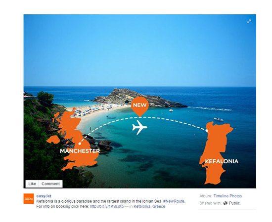 easyJet diz que a ilha grega de Keafolina é no Norte de Portugal